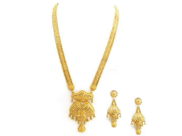 86.30g 22Kt Gold Yellow Necklace Set - 279