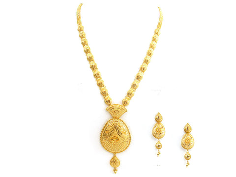 74.90g 22Kt Gold Yellow Necklace Set India Jewellery