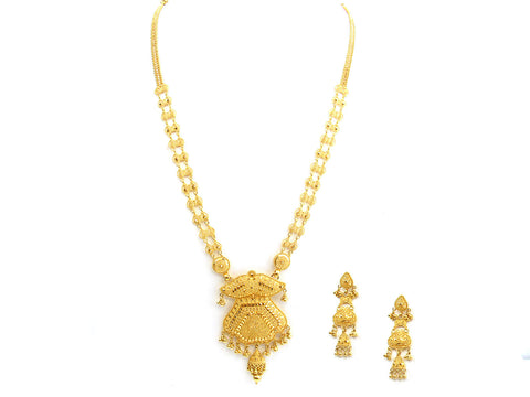 0.20g 22Kt Gold Yellow Necklace Set India Jewellery