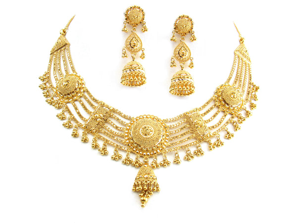 58.00g 22Kt Gold Yellow Necklace Set - 283