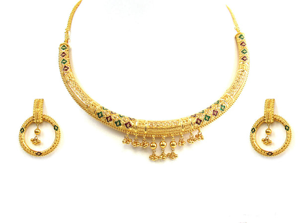 63.10g 22Kt Gold Yellow Necklace Set - 284