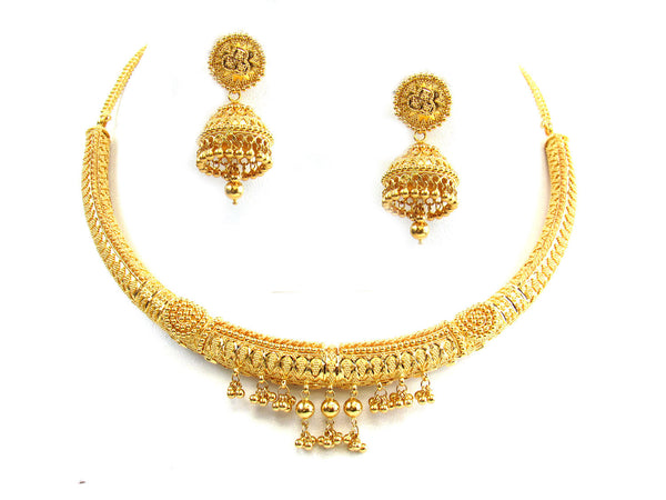 61.55g 22Kt Gold Yellow Necklace Set - 286