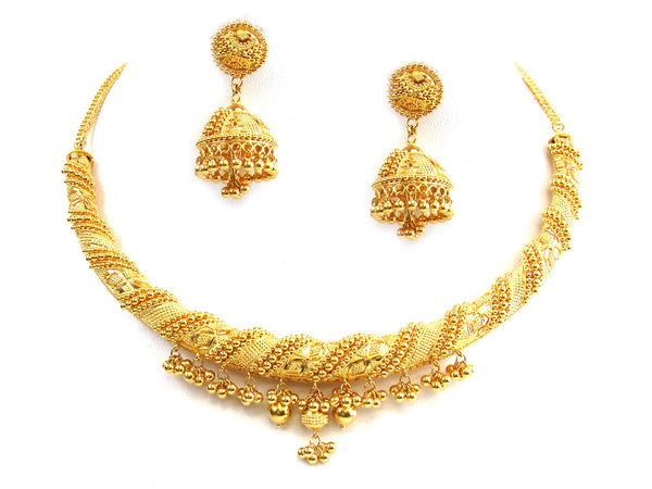 64.95g 22Kt Gold Yellow Necklace Set - 287