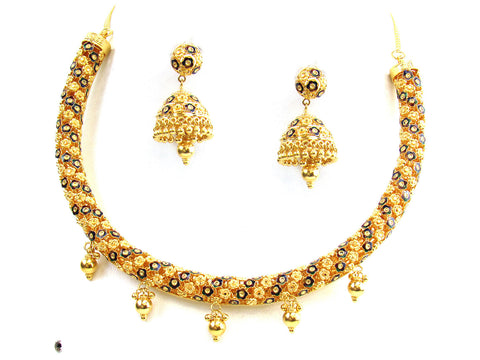 61.90g 22Kt Gold Yellow Necklace Set India Jewellery