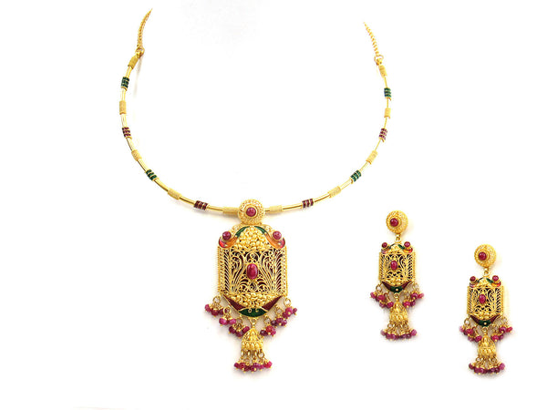 57.20g 22Kt Gold Yellow Necklace Set - 290