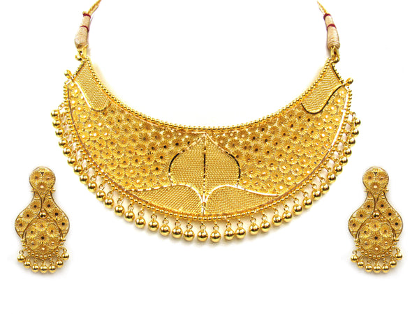 61.70g 22Kt Gold Yellow Necklace Set - 296