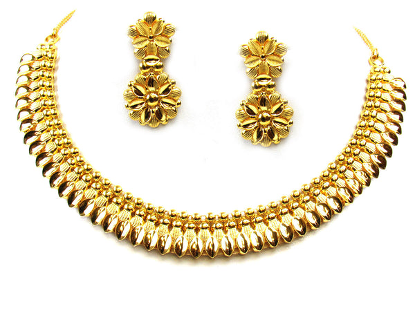 35.50g 22Kt Gold Yellow Necklace Set - 298