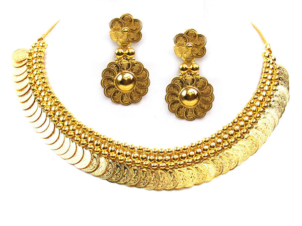 47.60g 22Kt Gold Yellow Necklace Set - 304