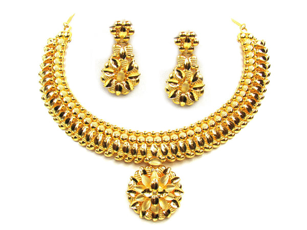 41.50g 22Kt Gold Yellow Necklace Set - 305