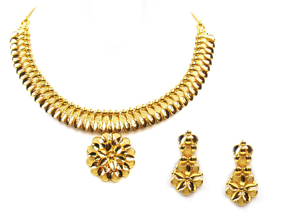 34.80g 22Kt Gold Yellow Necklace Set - 306