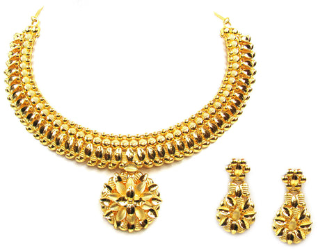 41.50g 22Kt Gold Yellow Necklace Set India Jewellery