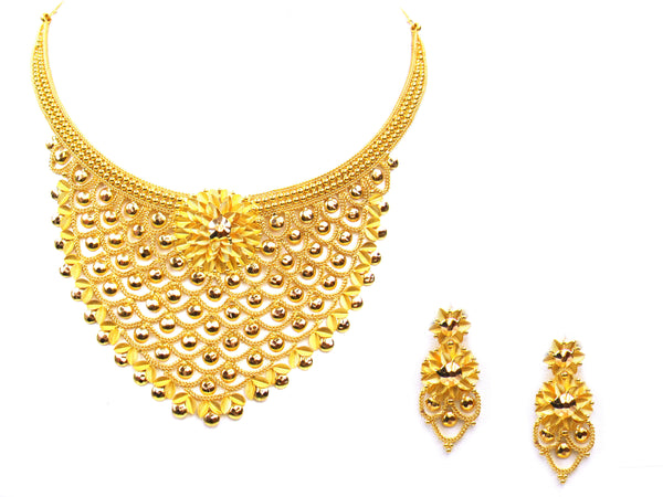 52.80g 22Kt Gold Yellow Necklace Set - 312