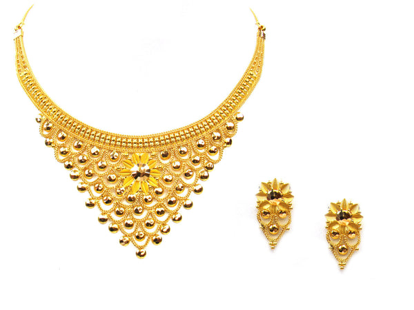 34.20g 22Kt Gold Yellow Necklace Set - 313