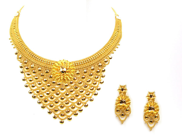 56.80g 22Kt Gold Yellow Necklace Set - 314