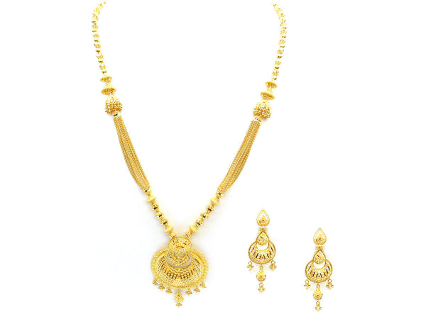 77.60g 22Kt Gold Yellow Necklace Set - 324
