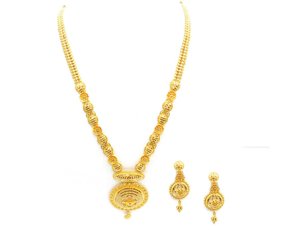 78.60g 22Kt Gold Yellow Necklace Set - 325