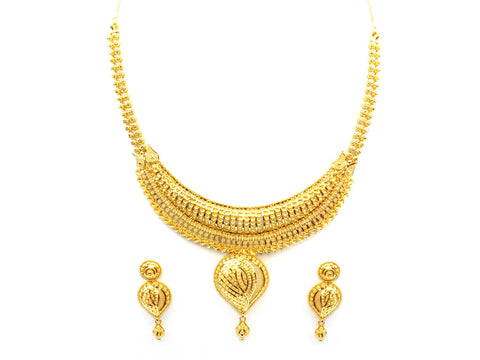47.55g 22Kt Gold Yellow Necklace Set India Jewellery