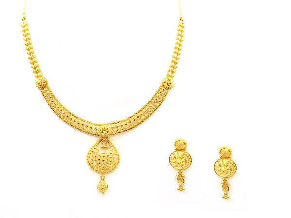 39.75g 22Kt Gold Yellow Necklace Set - 330