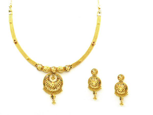 39.55g 22Kt Gold Yellow Necklace Set - 331