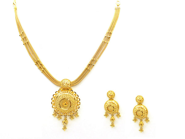 40.35g 22Kt Gold Yellow Necklace Set - 332