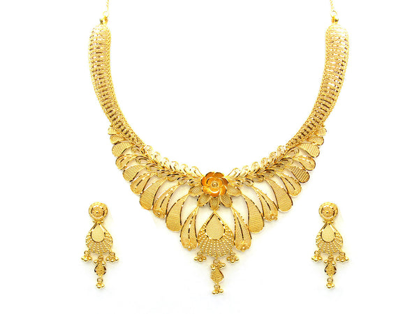 61.65g 22Kt Gold Yellow Necklace Set - 334