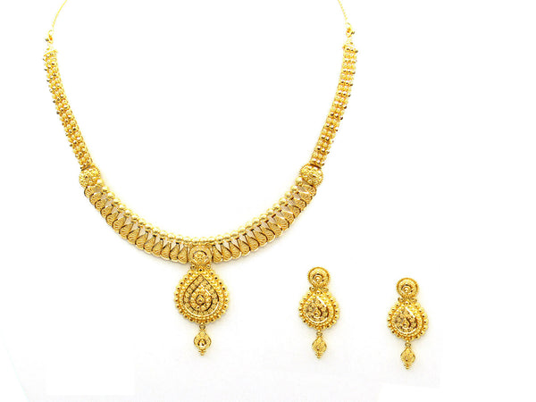 40.05g 22Kt Gold Yellow Necklace Set - 336