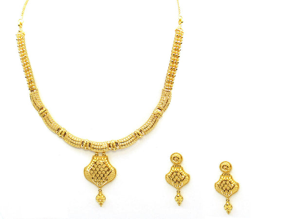39.00g 22Kt Gold Yellow Necklace Set - 337