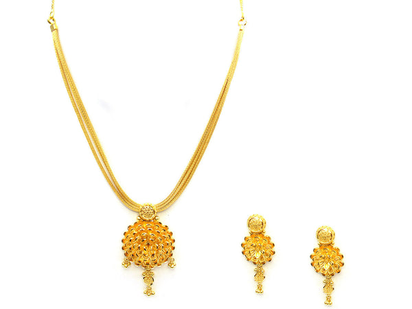 45.35g 22Kt Gold Yellow Necklace Set - 338