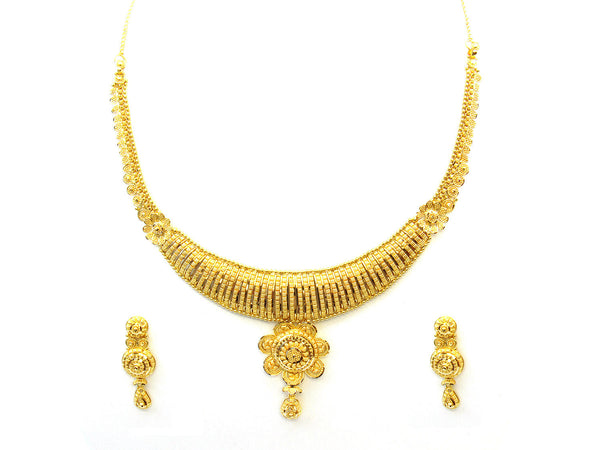39.60g 22Kt Gold Yellow Necklace Set - 340