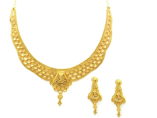 49.20g 22Kt Gold Yellow Necklace Set - 343