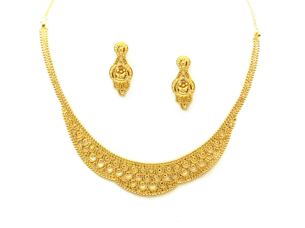 29.70g 22Kt Gold Yellow Necklace Set - 349