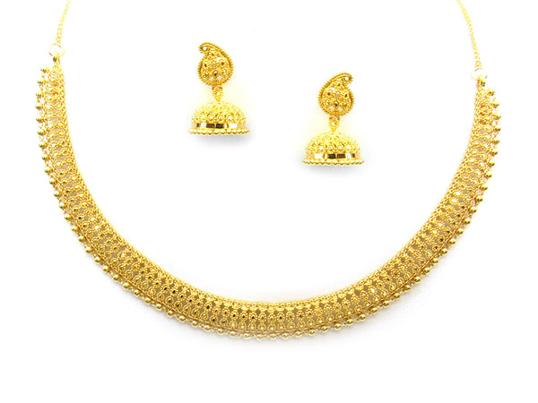 39.60g 22Kt Gold Yellow Necklace Set - 352