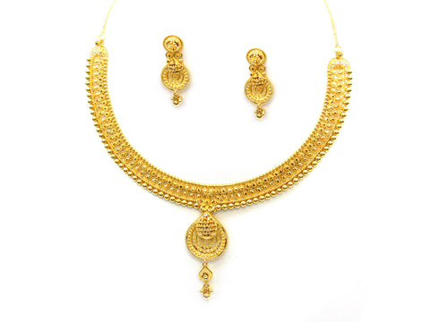 47.35g 22Kt Gold Yellow Necklace Set India Jewellery