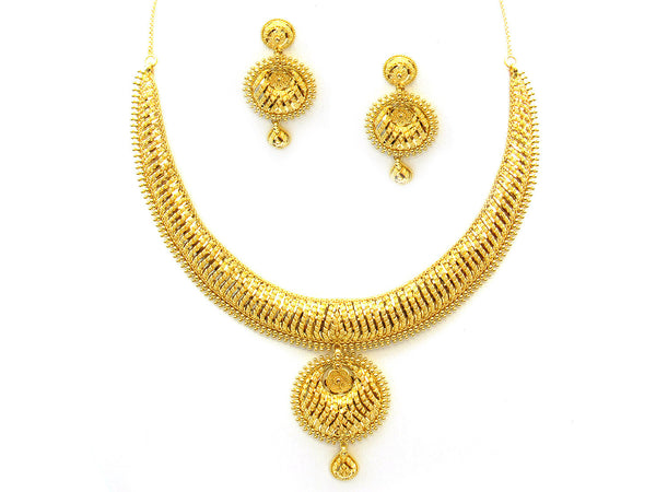 55.50g 22Kt Gold Yellow Necklace Set - 354