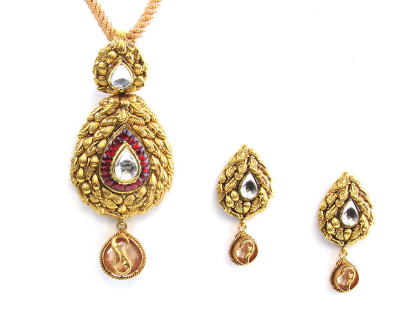 61.50g 22kt Gold Antique Pendant Set - 167