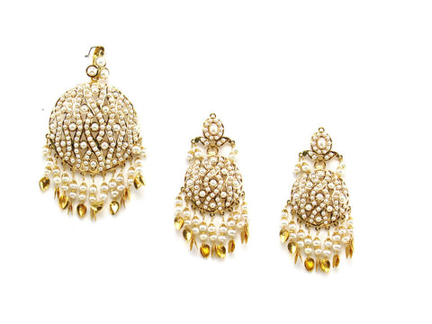 36.67g 22Kt Gold Jarou Pendant Set India Jewellery