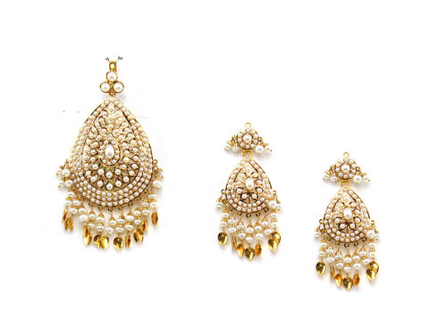 34.62g 22Kt Gold Jarou Pendant Set India Jewellery