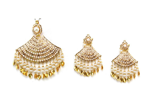33.26g 22Kt Gold Jarou Pendant Set India Jewellery