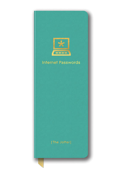 Studio Oh! Internet Password Jotter Journal Turquoise