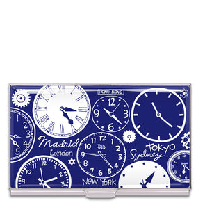 Clocks Card Case