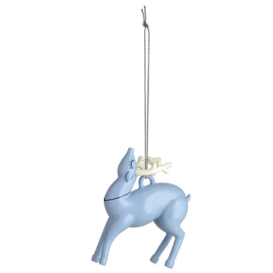 Alessi Blue Christmas Ornament Reindeer AAA08 1