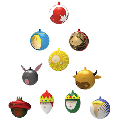 Alessi Le Palle Presepe Christmas Baubles | Set of Ten