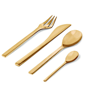 Alessi Colombina Cutlery Brass Coloured FM06S24 BR