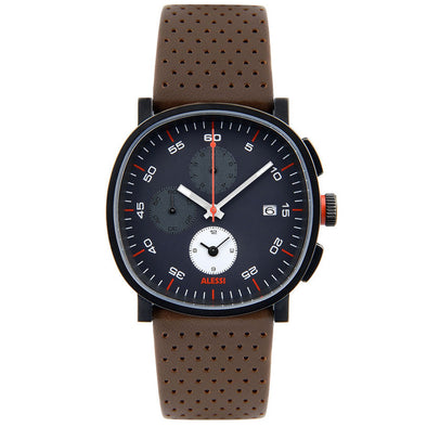 Alessi Tic Watch Leather Band Chronograph AL5031