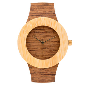 Analog Watch Co Teak & Bamboo