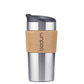 Bodum Vacuum Travel Mug Stainless Steel with Cork Sleeve 11068-109S