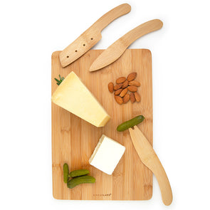 Cut&Serve Bamboo Cheese Board Set
