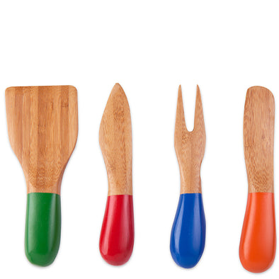 Kikkerland Bamboo Cheese Set CU236