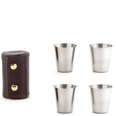 Camping Flask Set & Shot Glass Set