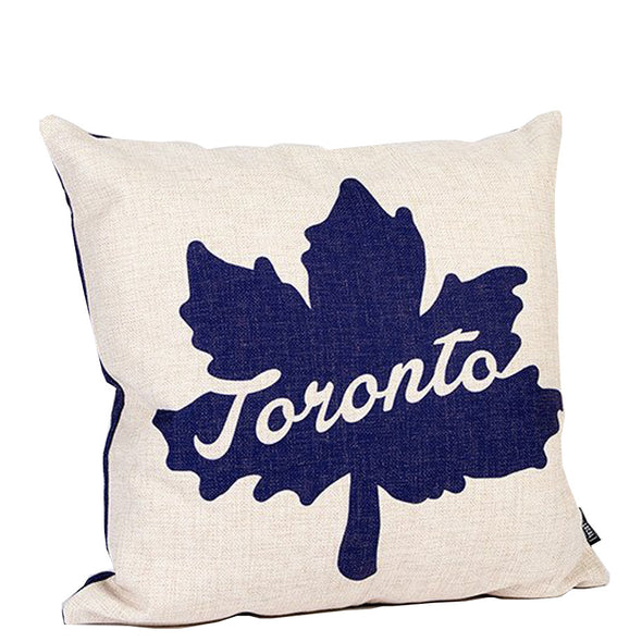 Toronto Leaf Icon Pillow
